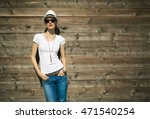 fashionable woman posing in... | Shutterstock . vector #471540254