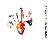 vector illustration for music... | Shutterstock .eps vector #471545951