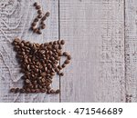 coffee cup made from beans.... | Shutterstock . vector #471546689