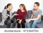 explaining a problem to a friend | Shutterstock . vector #471564701