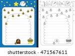 preschool worksheet for... | Shutterstock .eps vector #471567611