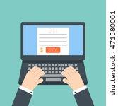 online invoice laptop   Shutterstock . vector #471580001