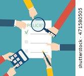 policies concept with hands | Shutterstock . vector #471580505