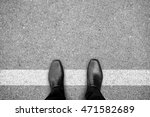 businessman in black shoes... | Shutterstock . vector #471582689