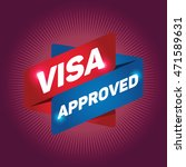 visa approved arrow tag sign. | Shutterstock .eps vector #471589631