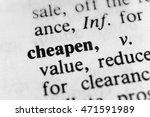 Small photo of Cheapen