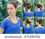hair tutorial. hairstyle... | Shutterstock . vector #471594701