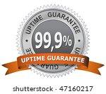 99 9   uptime guarantee sign.... | Shutterstock .eps vector #47160217