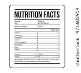 nutrition facts label template... | Shutterstock .eps vector #471602954