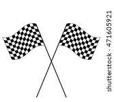 racing flags on a white... | Shutterstock .eps vector #471605921