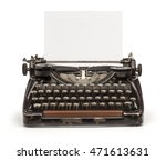 Old Vintage Typewriter And A...