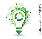 green city and recycle logo... | Shutterstock .eps vector #471631019