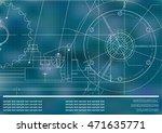 vector drawing. mechanical... | Shutterstock .eps vector #471635771