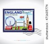london  england vector travel... | Shutterstock .eps vector #471635774