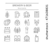 beer and brewery line icons set | Shutterstock .eps vector #471638831