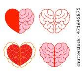 set of brain and heart. brain... | Shutterstock .eps vector #471642875