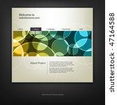 web site design template ... | Shutterstock .eps vector #47164588