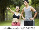young asian couple exercising... | Shutterstock . vector #471648737