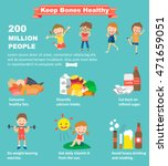 tips how to keep your bones... | Shutterstock .eps vector #471659051