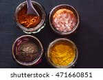 Colorful Oriental Spices On...