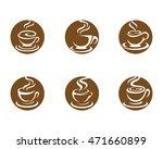 coffee icon logo template | Shutterstock .eps vector #471660899