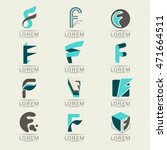 logo letter f element and... | Shutterstock .eps vector #471664511