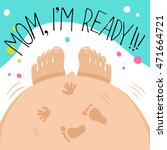 picture showing how pregnant... | Shutterstock .eps vector #471664721