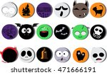 halloween icon character vector ... | Shutterstock .eps vector #471666191