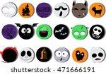 halloween icon character vector ... | Shutterstock .eps vector #471666191