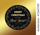merry christmas golden for... | Shutterstock .eps vector #471667439