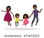 happy african american family... | Shutterstock .eps vector #471672221