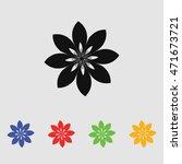 abstract flowers. vector black... | Shutterstock .eps vector #471673721