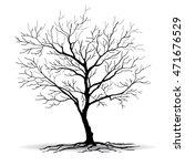 black tree silhouettes  on...   Shutterstock .eps vector #471676529