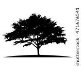 black tree  branch silhouette ... | Shutterstock .eps vector #471676541