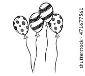 black and white balloon using... | Shutterstock .eps vector #471677561