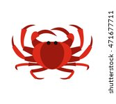 crab icon in flat style... | Shutterstock .eps vector #471677711