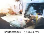 medical technology network team ... | Shutterstock . vector #471681791