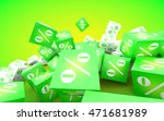 discount concept. green and... | Shutterstock . vector #471681989