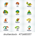 set of abstract vector company... | Shutterstock .eps vector #471683357