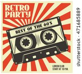 retro party advertising with... | Shutterstock .eps vector #471685889