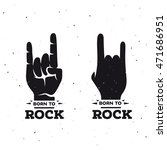 born to rock vintage poster.... | Shutterstock .eps vector #471686951