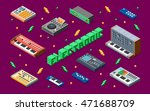 electronic music synthesizers... | Shutterstock .eps vector #471688709