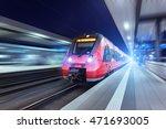 modern high speed red passenger ... | Shutterstock . vector #471693005