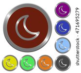 set of color glossy coin like... | Shutterstock .eps vector #471695279