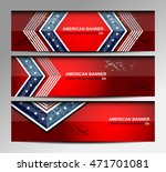 usa flag color banner... | Shutterstock .eps vector #471701081