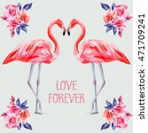 slogan love forever on the... | Shutterstock .eps vector #471709241