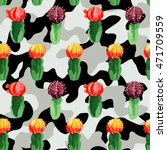 trendy camouflage  illustration ... | Shutterstock .eps vector #471709559