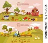 farm agriculture landscape...   Shutterstock .eps vector #471710015
