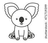 cute koala animal tender... | Shutterstock .eps vector #471719399
