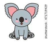 cute koala animal tender... | Shutterstock .eps vector #471719429
